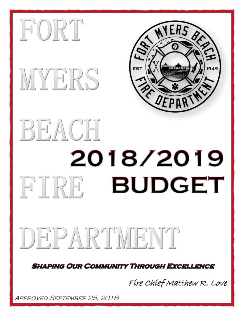 cover of budget document